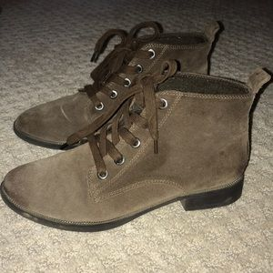 Sam Edelman Circus brown suede booties